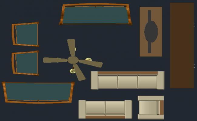 Furniture 3 D plan detail dwg file