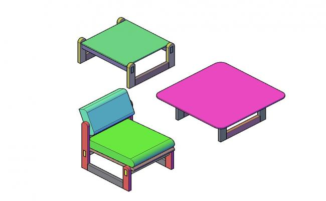 Furniture 3d models CAD Block