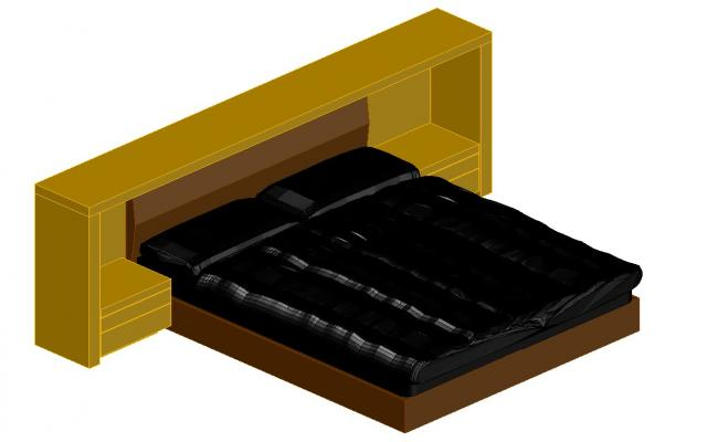 Furniture Bed Design CAD File Download