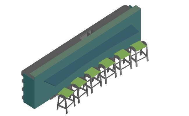 Furniture Blocks 3d model Design CAD File