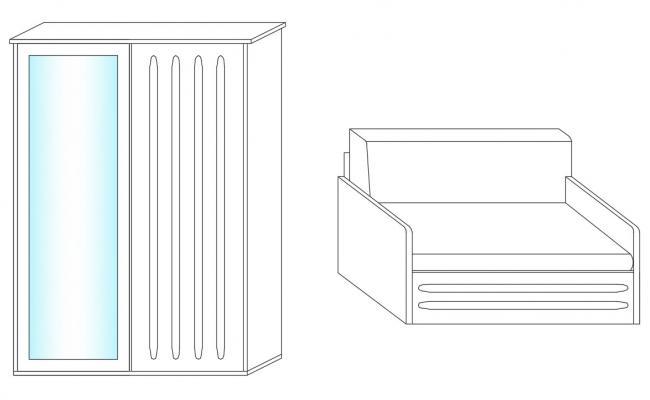 Furniture Blocks Elevation AutoCAD Drawing Free Download