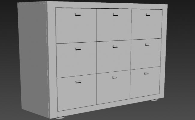 Furniture Cabinet Design 3ds Max File Download
