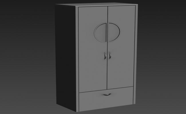 Furniture Closet Design 3d Model Rendered Max File