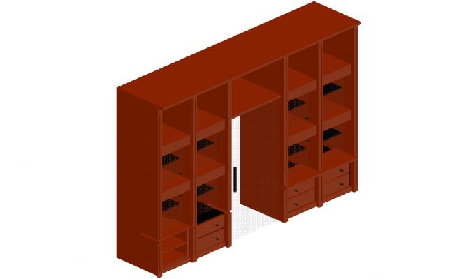 Furniture Detail of cupboard in 3d