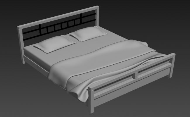 Furniture Double Bed Design 3ds Max File Free Download