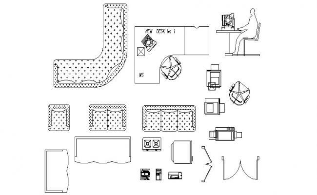 Classical furniture cad blocks autocad files