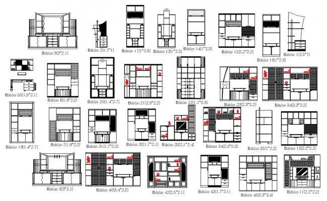 Furniture Elevation Design AutoCAD File