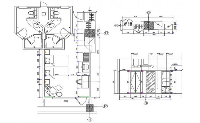 Furniture Layout Of Hotel Room CAD File Free Download