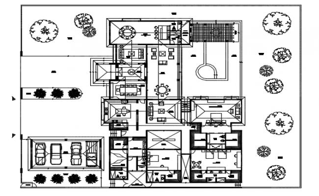 Furniture Residential housing plan detail dwg file