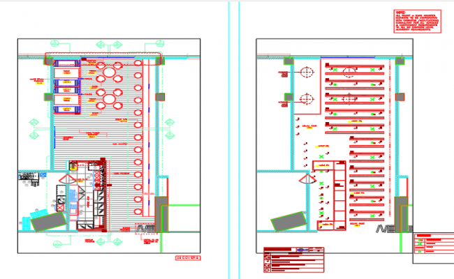 Furniture and ceiling layout