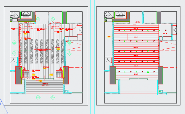 Furniture and ceiling layout plan