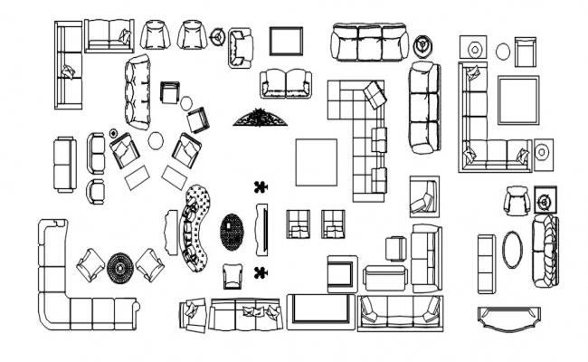 Furniture block drawing in dwg file