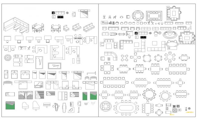 Furniture cad Blocks dwg file
