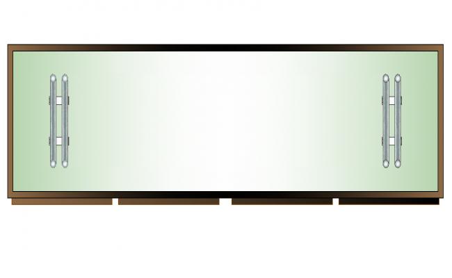 Furniture coffee table plan view