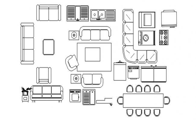 Furniture design block in dwg file