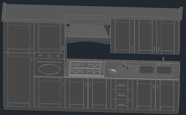 Furniture design drawing in AutoCAD file