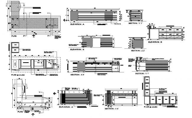 Office Desk Furniture DWG File