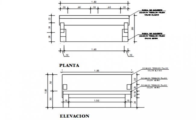 Furniture detail dwg file