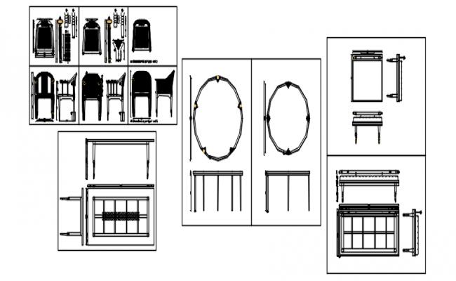 Furniture detail in autocad