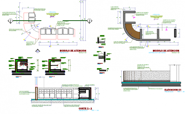 Furniture drawings and detail in autocad dwg files.
