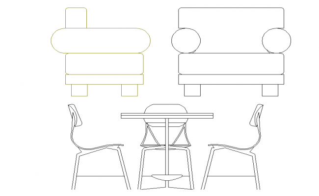 Furniture elevation plan detail dwg file