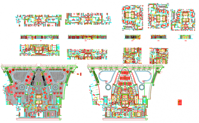 Furniture layout , Ceiling layout sections