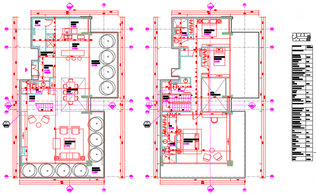 Furniture layout of a penthouse