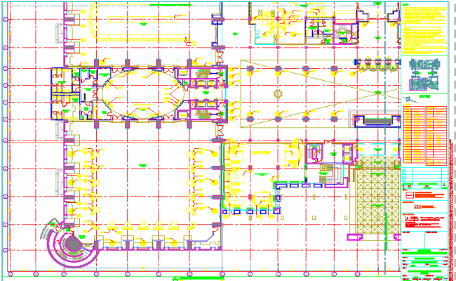 Furniture layout of a space