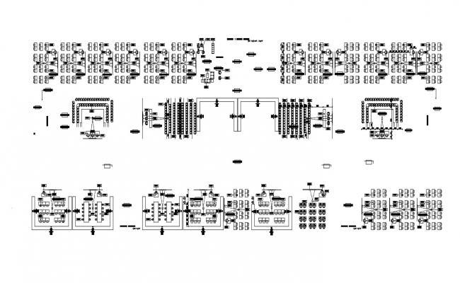 Furniture layout plan inAutoCAD
