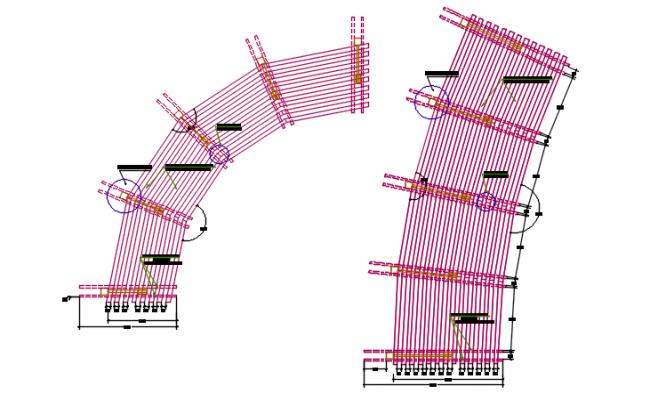 Furniture plan detail dwg file