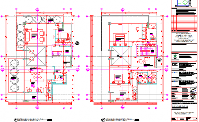 Furniture plan layout of penthouse