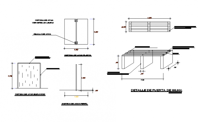Furniture sectional details