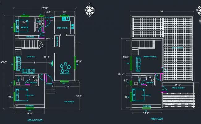 G+1 Optimum Space Residential Building (3B2HK)
