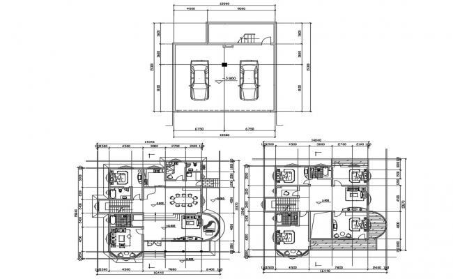 G+1 Residential Villa Design Furniture Layout Plan