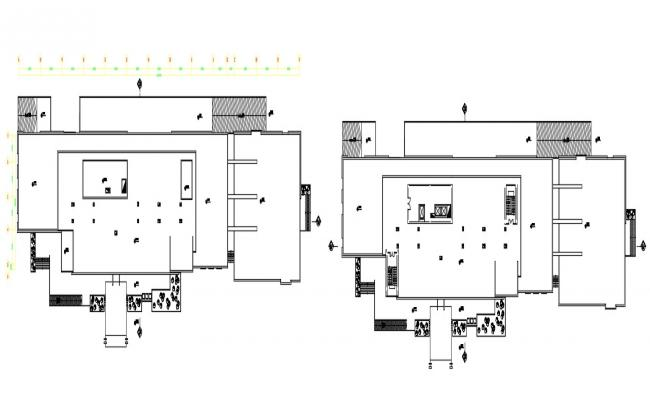 G+5 hotel building design dwg file