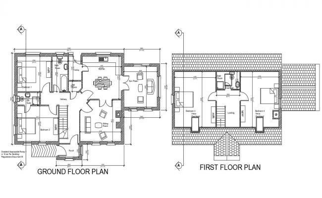 G + 1 House Plan