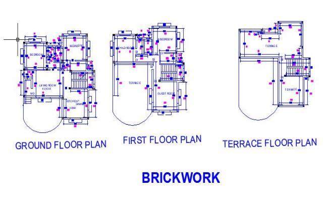 G+1 BrickWork Layout
