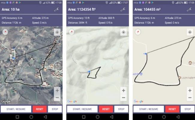 GPS Area measurement