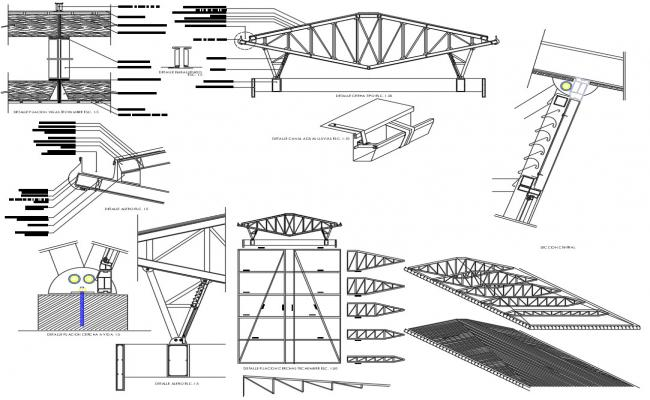 Gable Roof Truss CAD Drawing
