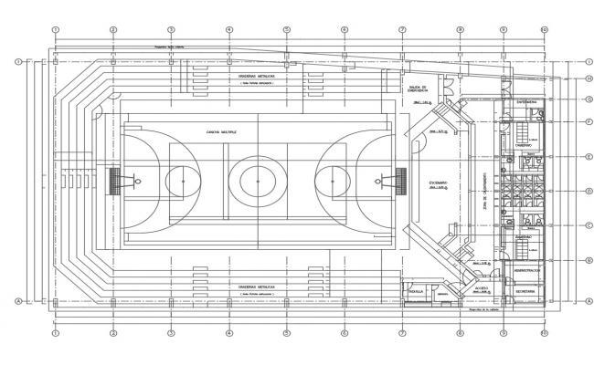 Game zone plan working plan detail dwg file