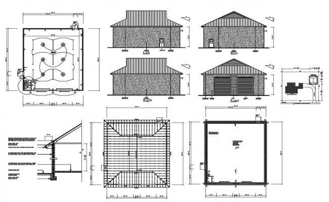 Garage House Plans DWG File