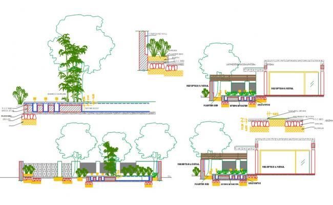 Garden Detail Project AutoCAD File