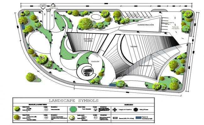 Garden Landscaping Design DWG File