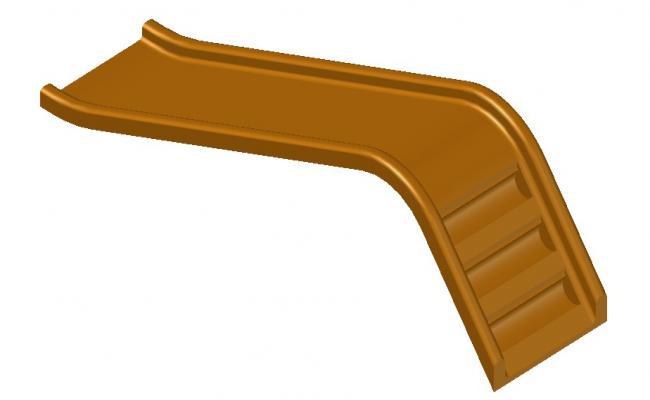 Garden Slide 3d model CAD block free download