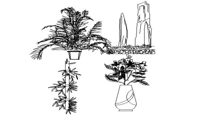 Garden Tree Block DWG file Detail