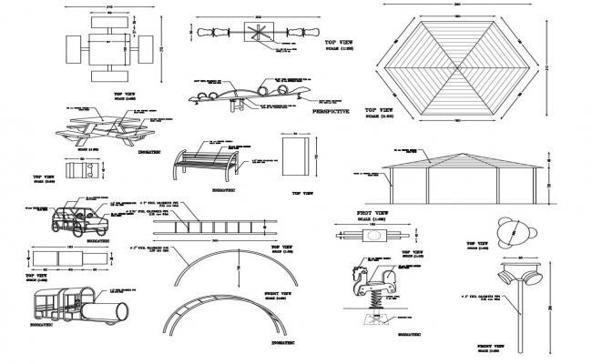 Garden equipment Free CAD Blocks Download