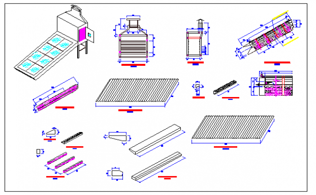 Garden equipment architecture project dwg file