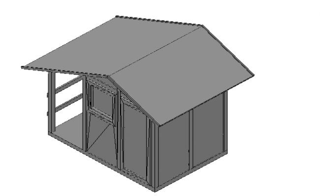 Garden house 3d details