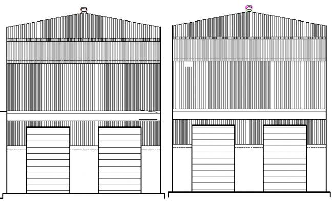 Garnet Shop Design and Elevation Plan dwg file