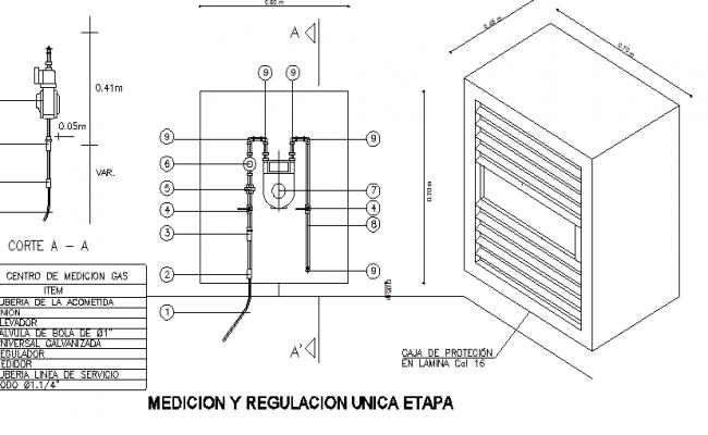 Gas Regulator Meter Details Dwg File
